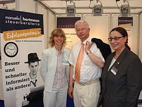 Hessentag 2009 Manuela Hartmann, Ministerpräsident Roland Koch, Gisela Puschmann